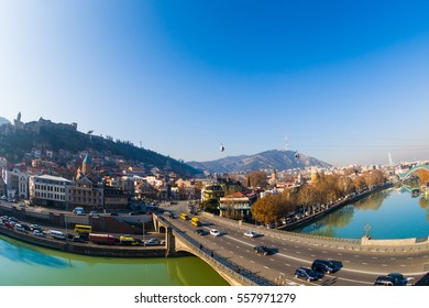 Old Tbilisi city center - Beautiful river view