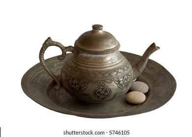 Old Tea Pot with Stones