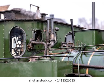The old technique of a steam locomotive is fascinating