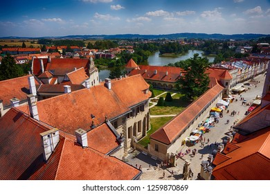 old telc town houses from czech republic