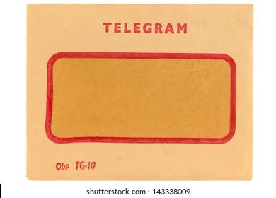 Old telegram envelope