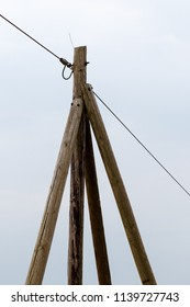 old telegraph pole or power pole