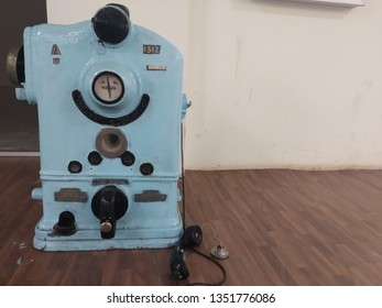 Old Telephone communication used in Railway station displayed at Train Museum at Villivakkam, Chennai, India. Photo taken on 22/03/2019