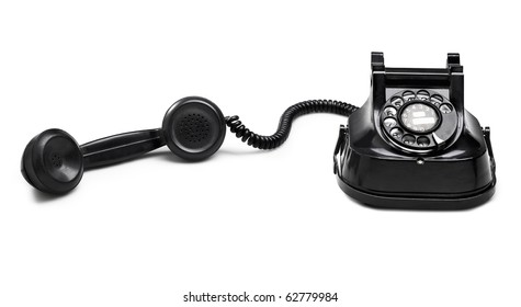 old telephone dial.(clipping path) on white background