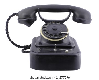 Old Telephone - hand made clipping path included
