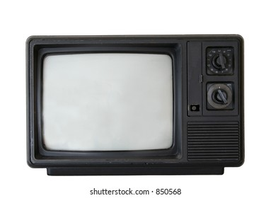 Old television; scratches visible