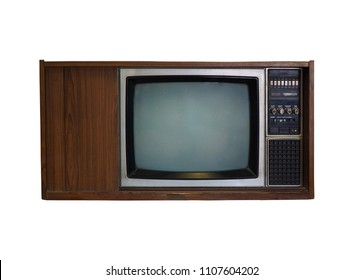 Old television, Vintage television isolate on white background. (whit clipping path)
