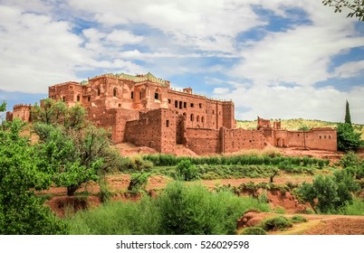 Old Telouet kasbah, former palatia residence of Glaoui tribe, northern Morocco