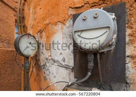 Old Temperature Meter Thermal Power Plant Stock Photo (Edit Now