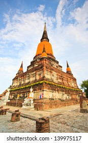 Old Temple of Ayuthaya Asia Thailand