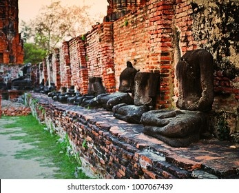 Old temple in ayutthaya of thailand