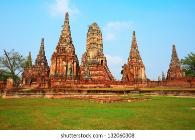 The Old temple of The old capital of thailand