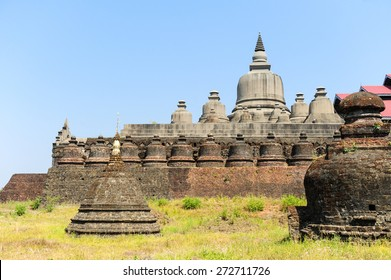 Old temple in Mrauk U ,Rakhine state ,Myanmar