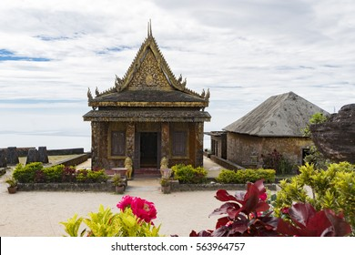 Old temple on Bokor hill in Kampot province, Cambodia.