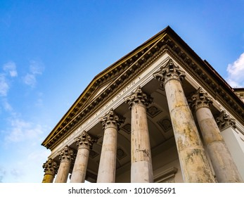 An old temple in the Roman style in Pu?awy