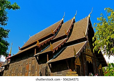 The old temple in Thailand.(Wat Phan tao Chiangmai Thailand.)