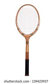 old tennis racket