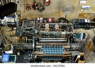 Old textile machine for manufacture flannelette