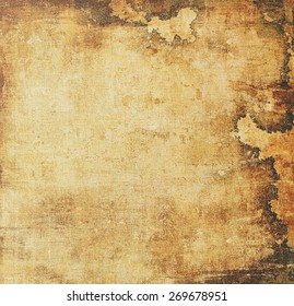 Old texture - ancient background with space for text. With different color patterns: yellow (beige); brown; gray; black