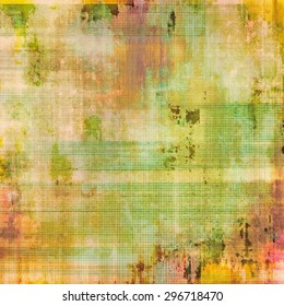 Old texture with delicate abstract pattern as grunge background. With different color patterns: yellow (beige); brown; green; pink