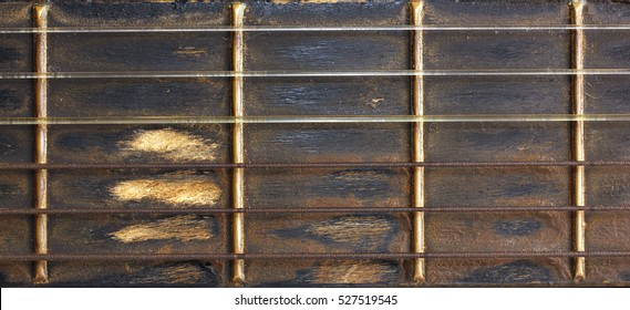 old texture of guitar classic detail
