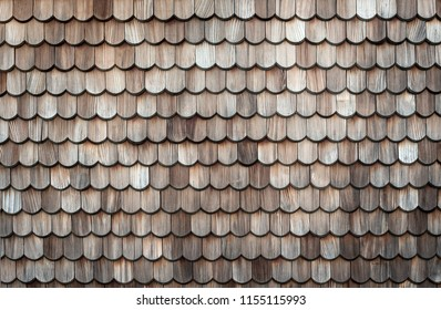 Old textured wooden roof background
