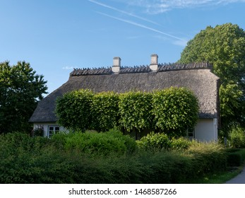Old thatched roof house near Holnis in Schleswig-Holstein, Germany