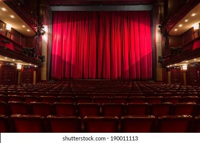 an old theater auditorium, interior