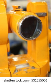 Old theodolite closeup