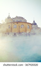 an old thermal baths in Europe, color effect