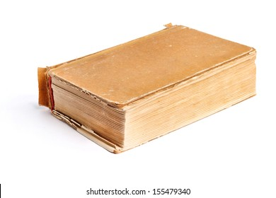 Old thick book on the white background