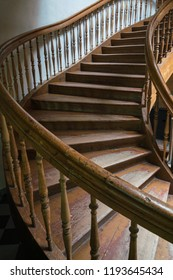 Old threaded wooden stairs