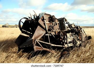 old threshing machine