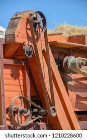 Old threshing machine - traditional threshing