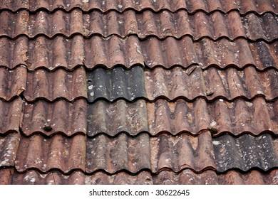 Old tile roof.