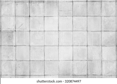 Old tiled white wall texture