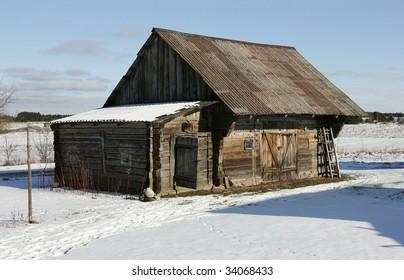 Old timbered barn