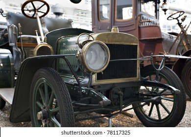 old timer automobile, detail view