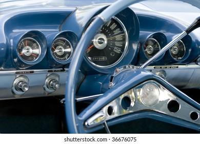 old timer car dashboard