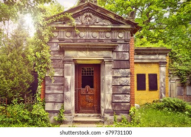 old tomb in beautiful nature