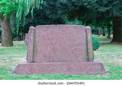 Old tombstone in cemetery
