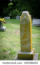 old tombstone in a church cemetery - portrait