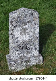 Old tombstone in a graveyard