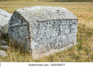 Old tombstones - Stecci Bosanskih Bogumila - near Vrdolje on the way to Lukomir, Bosnia and Herzegovina