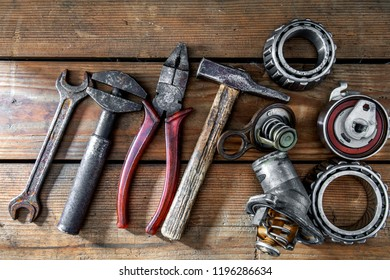 old tools and old auto parts