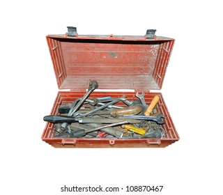 old tools in the box
