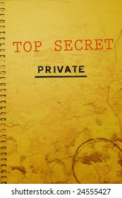 """Old top secret document marked """"Private"""""""