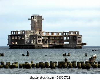 old torpedo building from the time of World War II