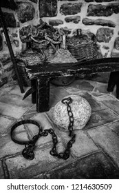 Old torture tools, torture detail of the inquisition