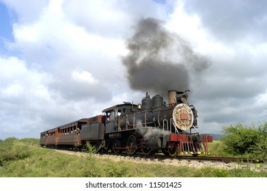 Old tourist train in Cuba